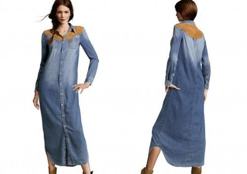 dzinsowa sukienka maxi