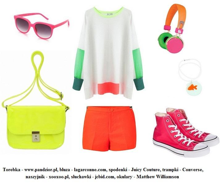 Neonowy trend - Stylizacja