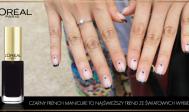 Czarny French Manicure