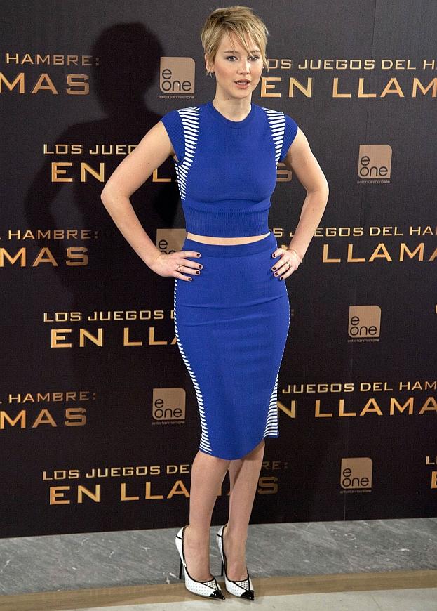 """Jennifer Lawrence na premierze """"W pierścieniu ognia"""""""